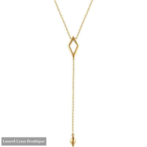 14K Geometric Y-Necklace - 14K Yellow - Stuller - Blairs Jewelry & Gifts