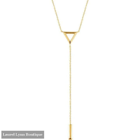 14K Triangle Y-Necklace - 14K Yellow - 51722 - Stuller - Blairs Jewelry & Gifts