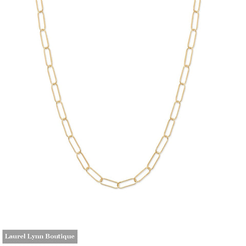 18 14/20 Gold Filled Paperclip Necklace - 34379 - Liliana Skye
