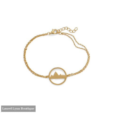6.5+1 Gold Plated Mountain Range Bracelet - 34290-7 - Liliana Skye
