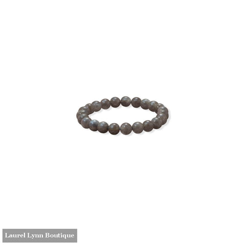 8mm Round Labradorite Stretch Bracelet - 23619 - Liliana Skye