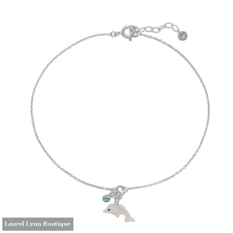9.5+1 Dolphin and Crystal Anklet - 92139 - Liliana Skye