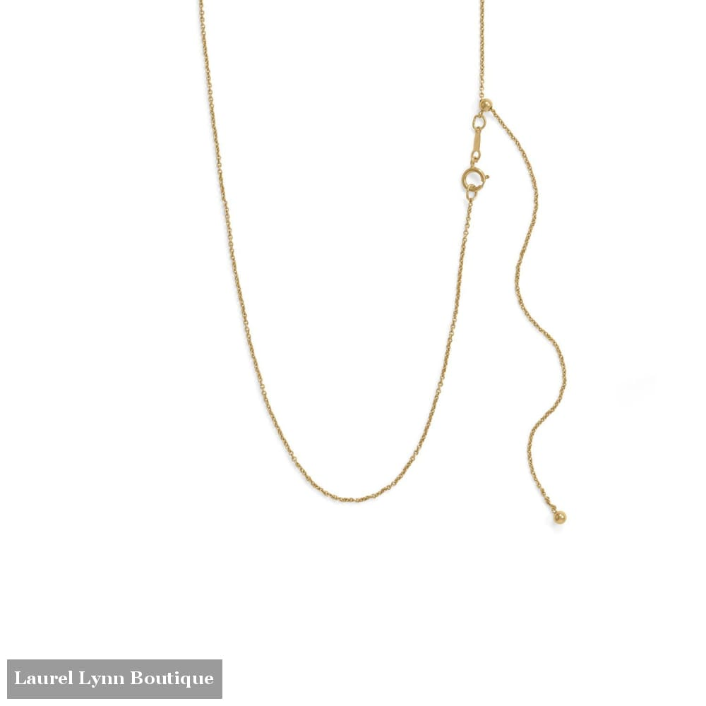 Adjustable 14/20 Gold-Filled Cable Chain - 34341 - Liliana Skye