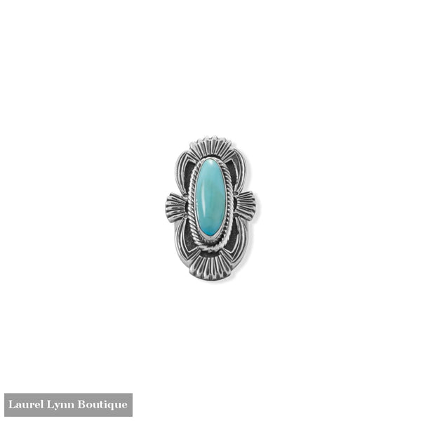 Admired Adornments! Native American Campitos Turquoise Ring - 83900-10 - Liliana Skye