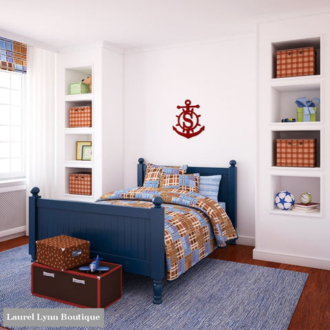 Anchor Monogram Wall Art - ALWD-ANCHOR - Viv & Lou