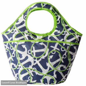Anchor Print Cooler Tote by Mud Pie - 18C7 - Mud-pie