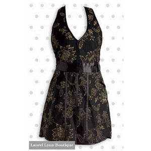 Apron - Black And Gold Floral - Blairs Jewelry & Gifts - Blairs Jewelry & Gifts