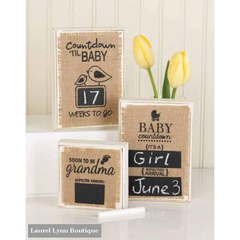 Baby Countdown Plaques - Mud-Pie - Blairs Jewelry & Gifts