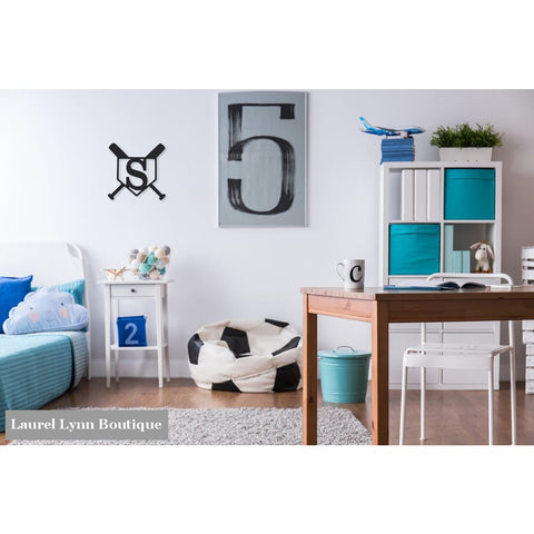 Baseball Monogram Wall Art - ALWD-BASE - Viv & Lou