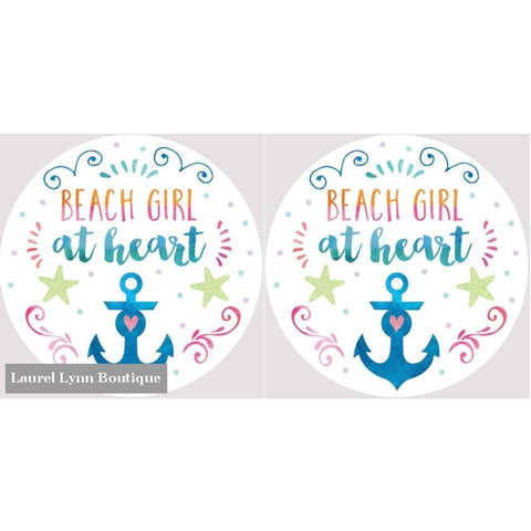 Beach Girl Car Coaster Set #4037 - Clementine Design - Blairs Jewelry & Gifts