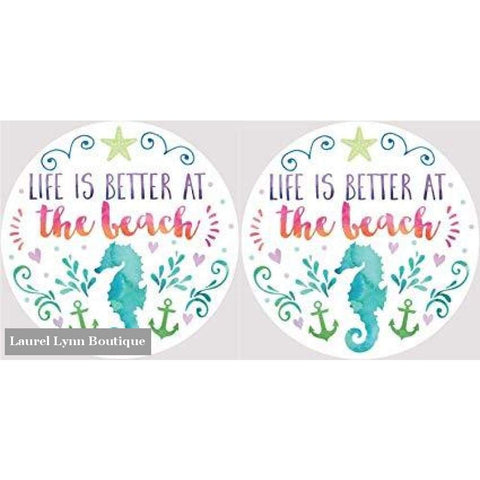 Better At The Beach Car Coaster Set #4045 - Clementine Design - Blairs Jewelry & Gifts