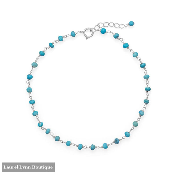 Blue Sea! Turquoise Anklet - 92112 - Liliana Skye