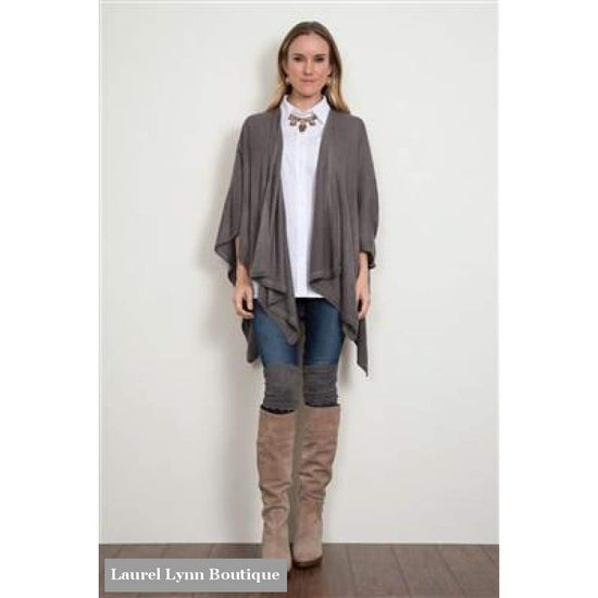Simply Noelle Heathered Bordeaux Cardi Wrap
