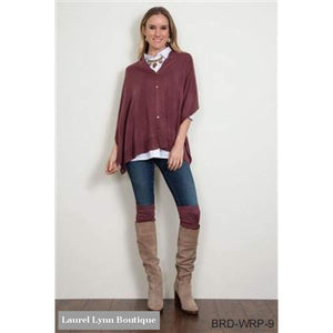 Bordeaux Wrap - Fall Colors - Select A Color - 5Bee1140B725F - Simply Noelle - Blairs Jewelry & Gifts