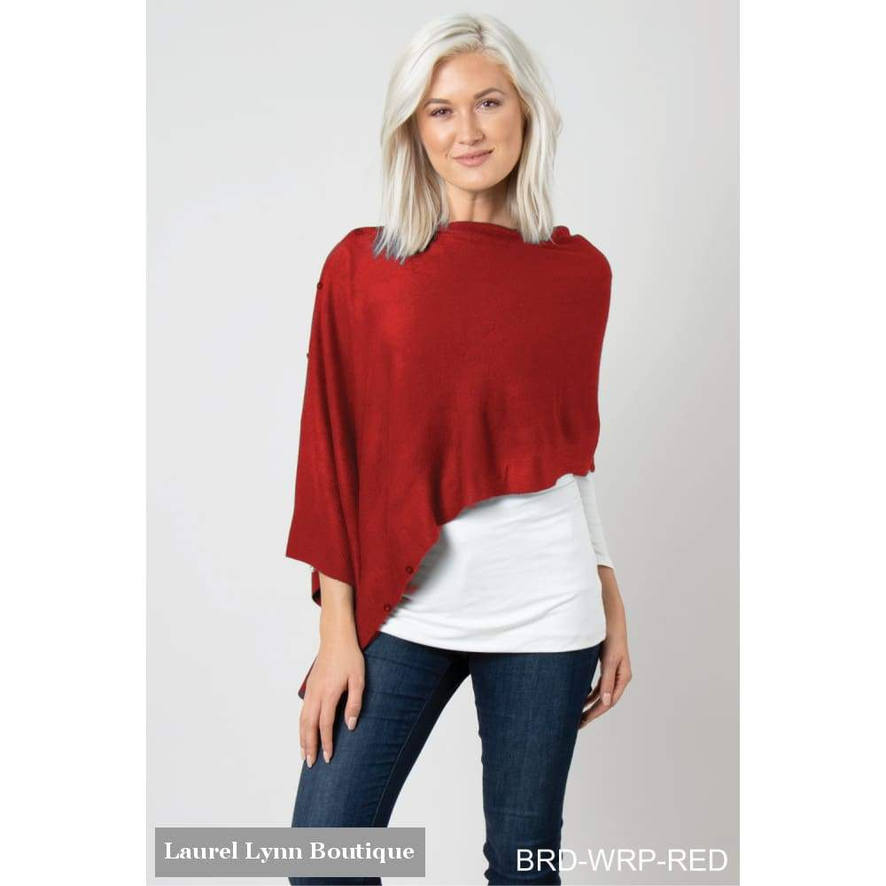 Bordeaux Wrap - Red (Sign Up For Re-Stock Notification Here) - Ce48 - Simply Noelle