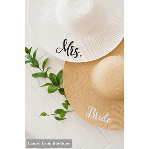 Bride Floppy Hat - Natural - M180VL-NAT-BRIDE - Viv & Lou