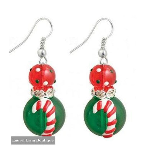 Candy Cane Earrings #5244 - 5244 - Kate & Macy