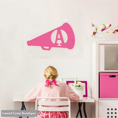 Cheer Megaphone Monogram Wall Art - ALWD-CHEER - Viv & Lou