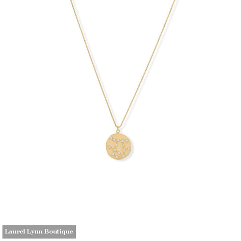 Cosmic Constellations! 16 + 2 Gemini Coin Necklace - 34375-GEM - Liliana Skye