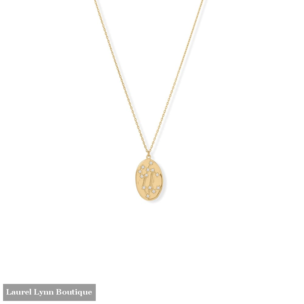 Cosmic Constellations! 16 + 2 Leo Oval Coin Necklace - 34375-LEO - Liliana Skye