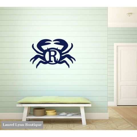 Crab Monogram Wall Art - ALWD-CRAB - Viv & Lou