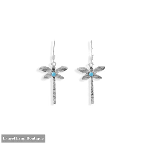 Creatively Crafted! Navajo Turquoise Dragonfly Earrings - 66704 - Liliana Skye