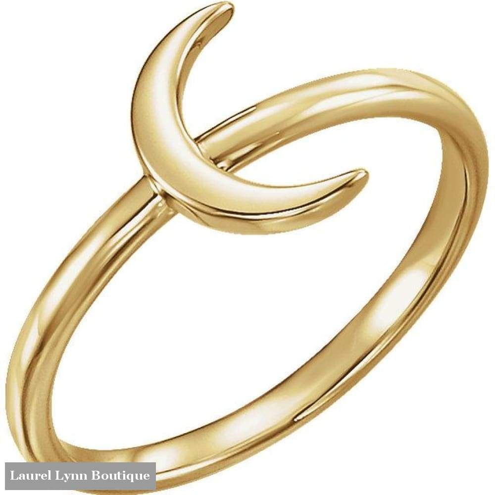 Crescent Moon Ring - 14K Yellow Gold / 5 - Stuller - Blairs Jewelry & Gifts