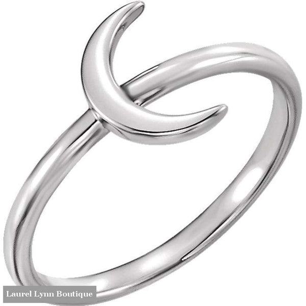 Crescent Moon Ring - Sterling Silver / 5 - Stuller - Blairs Jewelry & Gifts