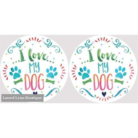 Dog Car Coaster Set #4051 - Clementine Design - Blairs Jewelry & Gifts