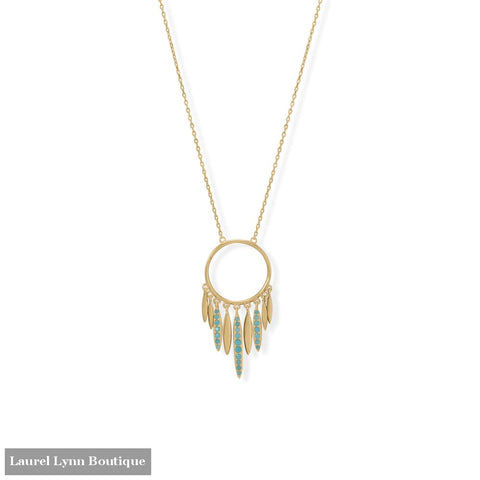 Dream Big! 16 + 2 Dream Catcher Inspired Necklace - 34371 - Liliana Skye