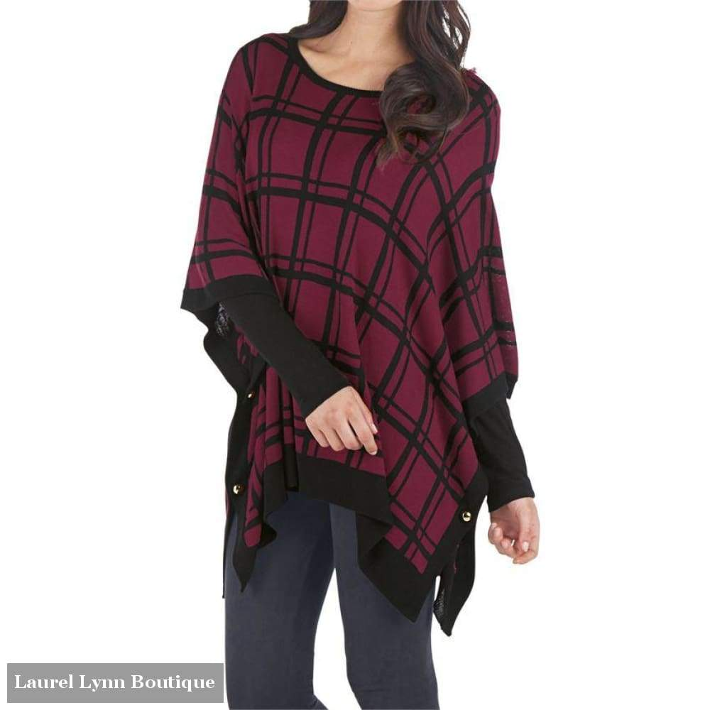 Everly Reversible Poncho - Mud-Pie - Blairs Jewelry & Gifts