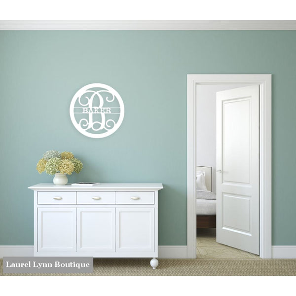Family Name Monogram Wall Art - ALWD-FAMNAME - Viv & Lou