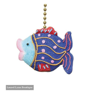 Fish Fan Pull - Clementine Design - Blairs Jewelry & Gifts