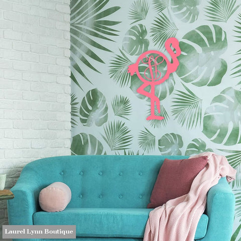 Flamingo Monogram Wall Art - ALWD-FLAMINGO - Viv & Lou