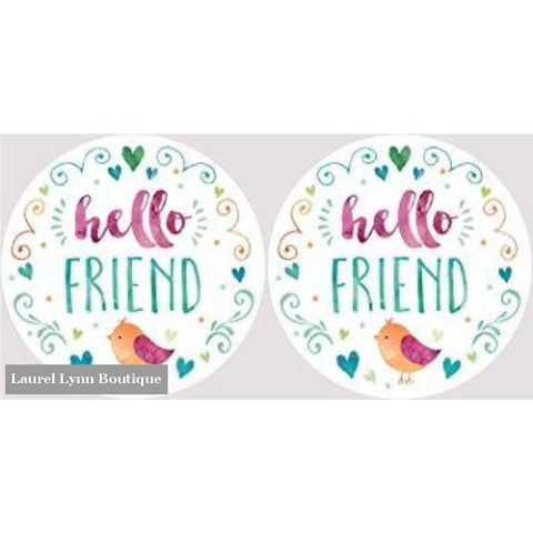 Friend Car Coaster Set #4058 - Clementine Design - Blairs Jewelry & Gifts