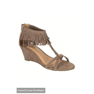 Fringed Sandal - Taupe / 5.5 - Lemon Tree - Blairs Jewelry & Gifts