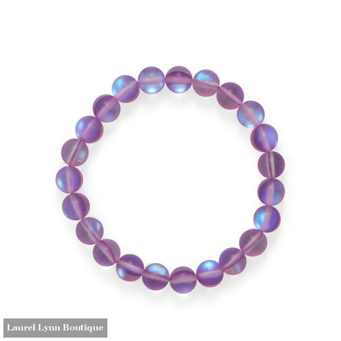 Fun! Orchid Color Stretch Glass Bracelet - W2846 - Liliana Skye