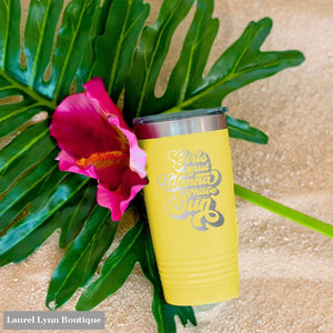 Girls Just Wanna Have Sun Tumbler - TWB20-SUN-YEL - Viv & Lou