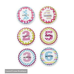 Girls Milestone Stickers - Mud-Pie - Blairs Jewelry & Gifts