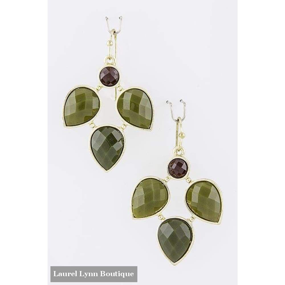 Green Jewel Earrings - Blairs Jewelry & Gifts - Blairs Jewelry & Gifts