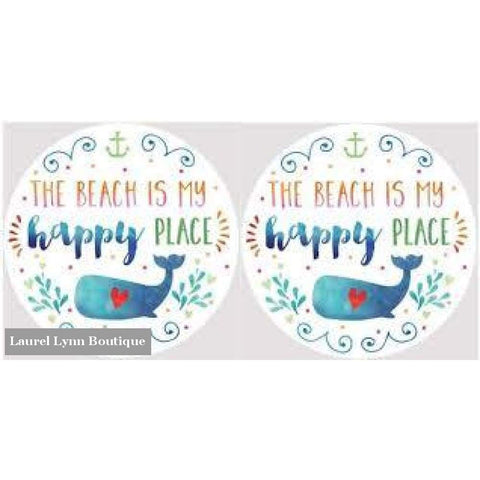 Happy Place Car Coaster Set #4039 - Clementine Design - Blairs Jewelry & Gifts