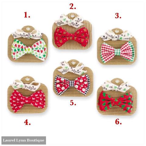 Holiday Bow Ties - Mud-Pie - Blairs Jewelry & Gifts