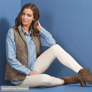 Hunter Ponte Knit Pant - Winter White - Mud-Pie - Blairs Jewelry & Gifts