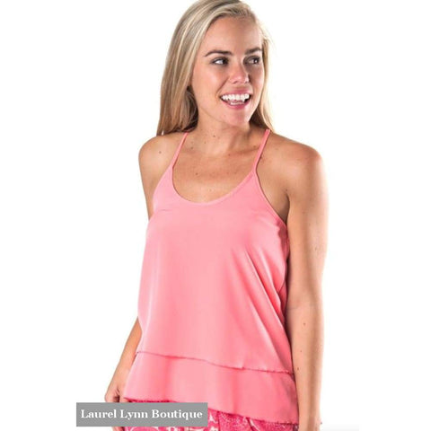 Kora Racerback Tank - Coral - All For Color - Blairs Jewelry & Gifts