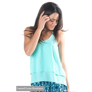 Kora Racerback Tank - Turquoise - All For Color - Blairs Jewelry & Gifts