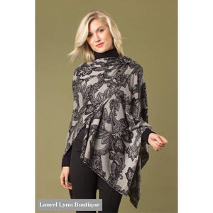 Leaf Motif Bordeaux Cardi Wrap - Simply Noelle - Blairs Jewelry & Gifts
