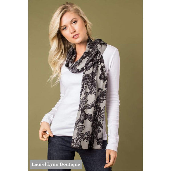 Leaf Motif Bordeaux Wrap - Simply Noelle - Blairs Jewelry & Gifts