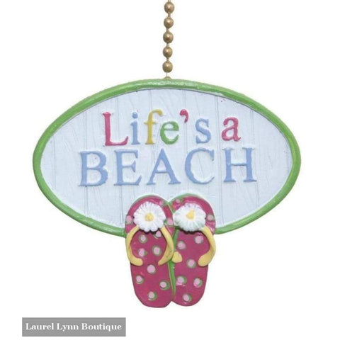 Lifes A Beach Fan Pull - Clementine Design - Blairs Jewelry & Gifts