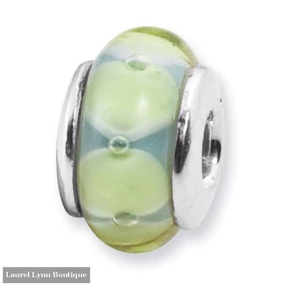 Light Blue And Green Glass Bead - Qrs885 - Reflection Beads - Blairs Jewelry & Gifts