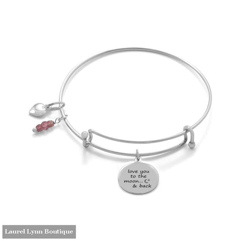 Love You To The Moon And Back Bangle - Liliana Skye - Blairs Jewelry & Gifts